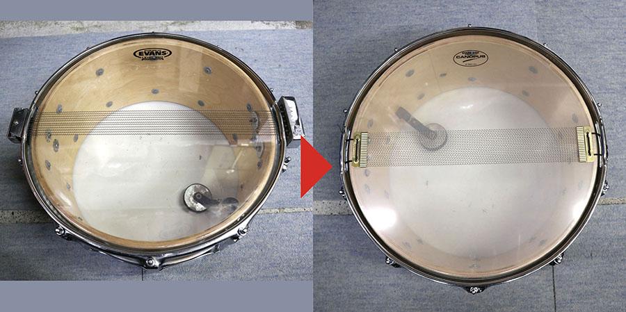 ドラムの修理・改造のの実例