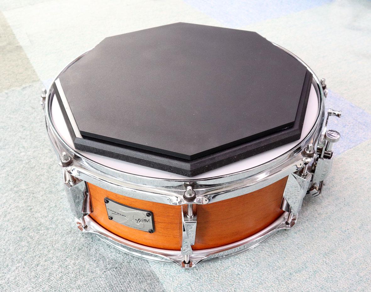 期間限定練習パッド付き YAIBA2 JSB-1455 5.5x14 Snare Drum Dark Wine Red Mat LQ